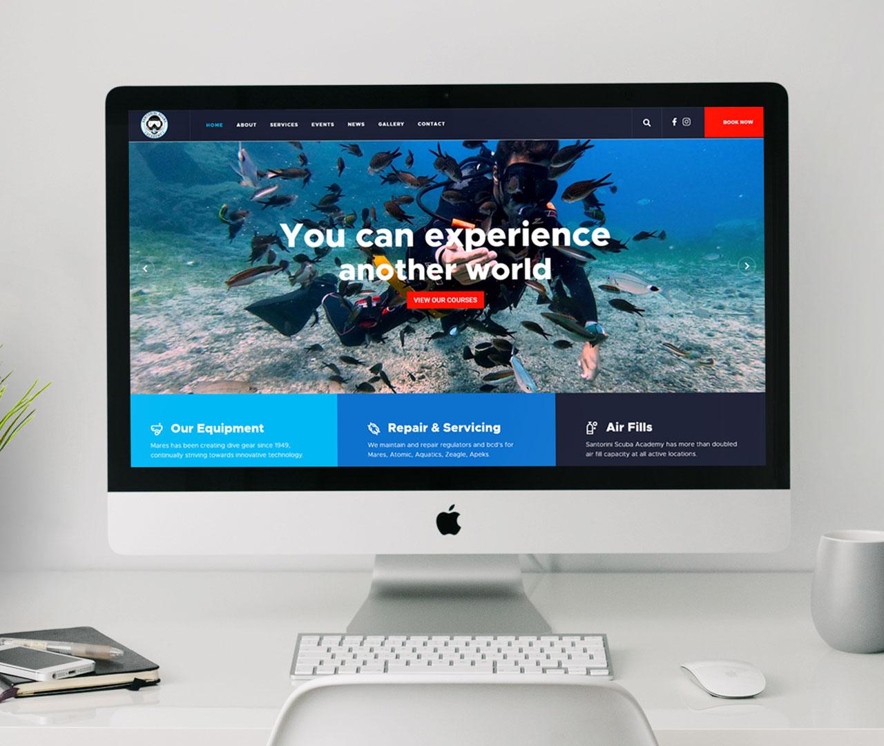 Santorini Scuba Academy Website